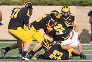 The Gustavus defense held the Johnnie offense in check.