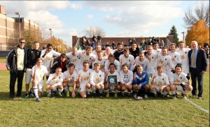 The Gustavus men's soccer team became the first team since Macalester in 2001 to win the league title with an unblemished record.