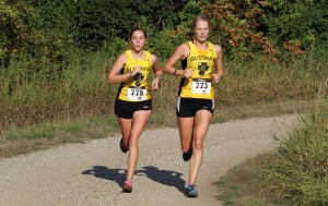 Rebecca Hare and Caitlin Fermoyle will lead the Gustie women into the MIAC Championships.