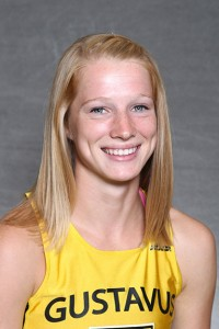Caitlin Fermoyle led Gustavus in 12th place to earn All-Conference honors for the second time in her career.