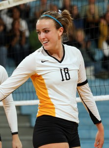 Kelle Nett was selected as Gustavus's representative on this year's All-Sportsmanship Team.