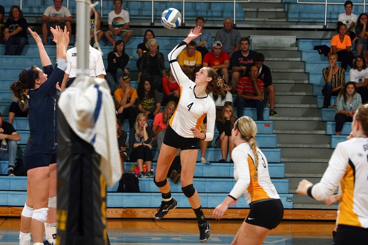 Junior middle hitter Alyssa Taylor was named to the 2013 All-Conference Team.