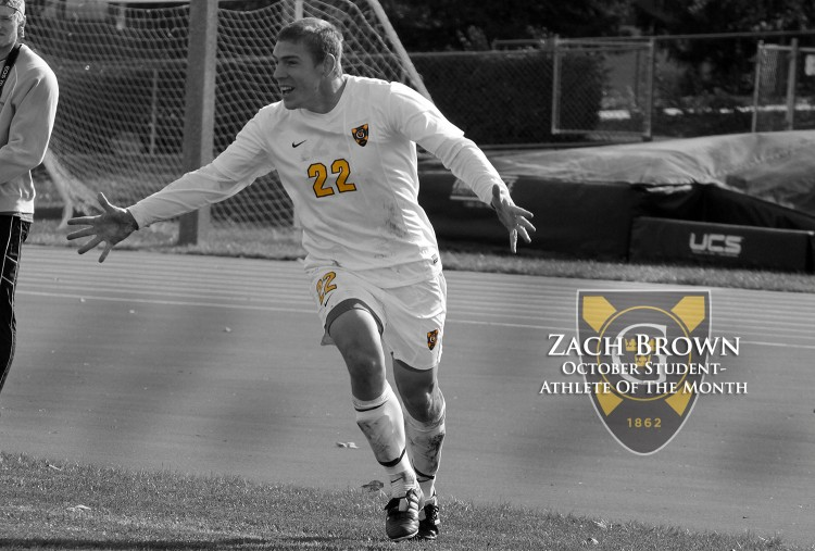 Zach Brown has been named the October Male Student-Athlete of the Month. Photo courtesy of Laura Westphal - Sport PiX.