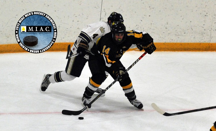 The Gustavus men's hockey team finished the MIAC showcase with a record of 1-1.