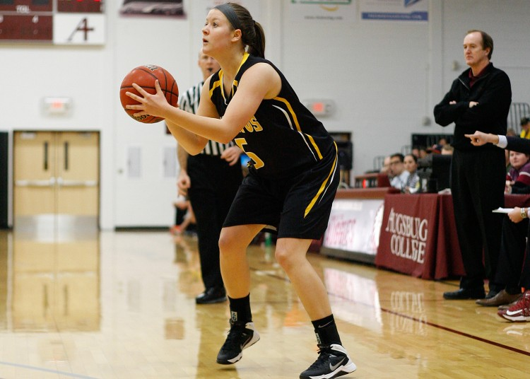 Julia Dysthe led the Gusties in scoring with a career-high 25 points after going 8-for-11 from the field. Photo courtesy of Caleb Williams - d3photography.com