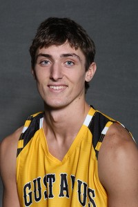 Senior Jordan Dick scored 13 points to lead the Gusties in his final collegiate game.