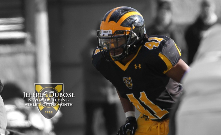 Jeffrey Dubose has been named the Gustavus Student-Athlete of the Month for the second time this year.