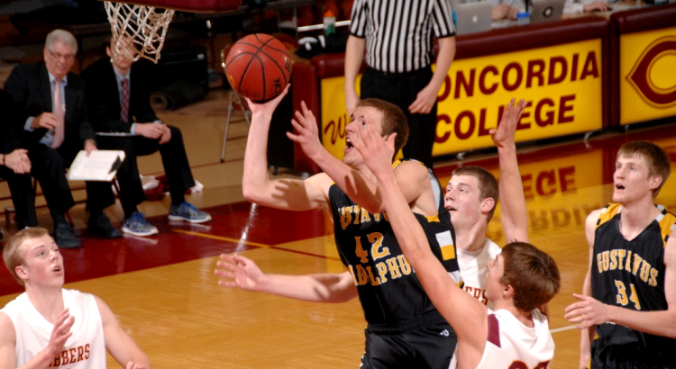 Brody Ziegler scored 16 points in Saturday's win over Concordia. (Photo courtesy of Jim Cella - Concordia Sports Information Director)