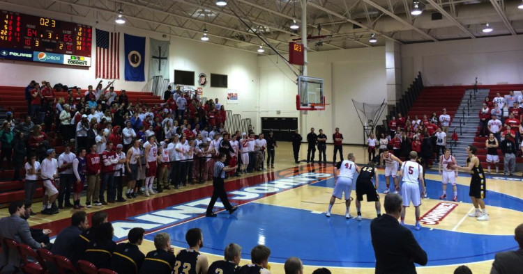 The scene at Sexton Arena in the final seconds. (Photo courtesy of Aryn Bell)
