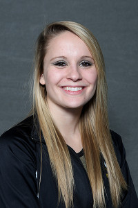 Jamie Ries posted her best all-around score of the season on Friday night against UW-Stout.