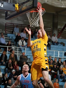 Martin Feddersen finished with 14 points in Monday night's loss.