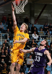 Martin Feddersen goes up for two of his 15 points (Photo courtesy of Laura Westphal).