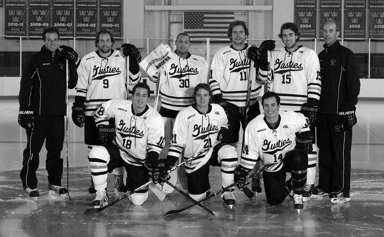The 2013-14 Gustavus men's hockey seniors.