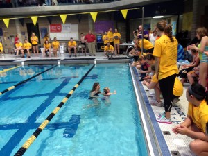 From swimming alongside the athletes, to filling the Vic with cheers and energy, the members of the Gustavus swimming and diving teams were responsible for running the Special Olympics Aquatics competition.
