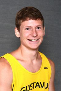 Thomas Knobbe won the 3,000-meter run at the Pre-MIAC meet held Friday night at Macalester.