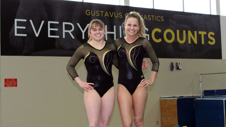 Lauren Kershner and Jamie Ries competed in the all-around at the NCGA Championships.