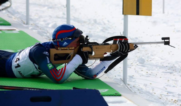 Tyler Gustafson competed in the IBU Junior World Championships in early March. (Photo courtesy of IBU).