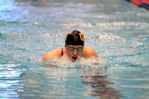 Jenny Strom finished ninth overall in the prelims of the 200 breaststroke.