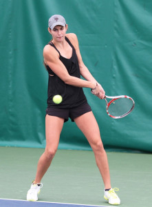 Sidney Dirks provided one of Gustavus's two wins on Sunday.