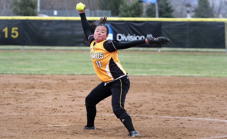 Hannah Heacox pitched 8.2 scoreless innings with 14 strikeouts on Wednesday against Augsburg. (Photo courtesy of Laura Westphal - Sport Pix)
