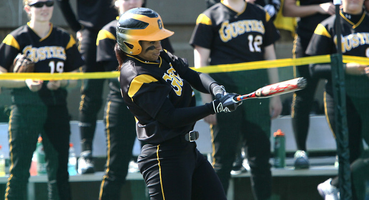 Sophomore Nathalee Boissiere homered twice and drove in six runs in Sunday's sweep. (Photo courtesy of Morgan Stock - Sports Pix)