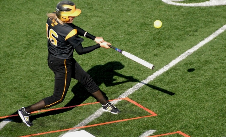 Kailey Morgan hit three home runs in Saturday's doubleheader. (Photo courtesy of Jim Cella - Concordia Sports Information)