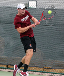 Trinity's Paxton Deuel prevailed at No. 1 singles, giving the Tigers the decisive fifth point.