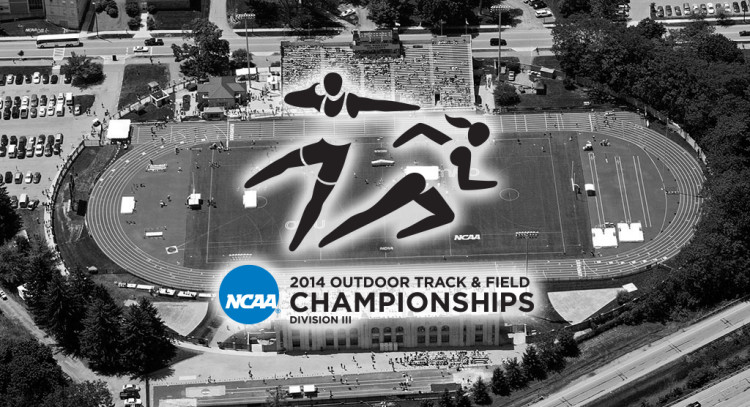 George Gauthier Track on the campus of Ohio Wesleyan University, the site of the 2014 NCAA Outdoor Track and Field Championships.