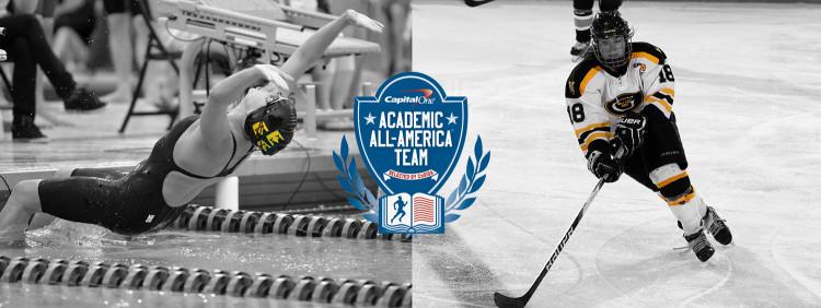 Alissa Tinklenberg and Carolyn Draayer earn CoSIDA Academic All-America honors.