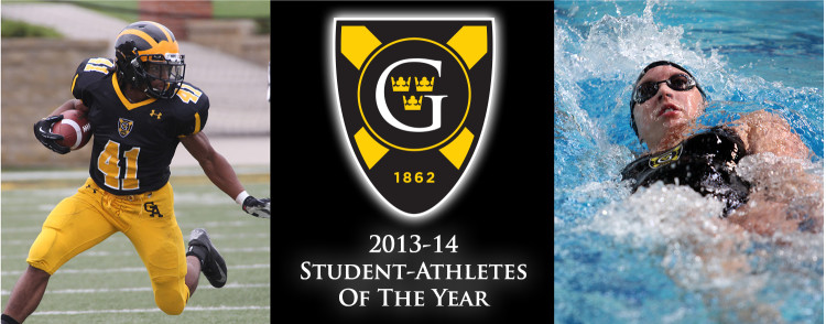 Jeffrey Dubose and Alissa Tinklenberg were named the Gustavus Student-Athletes of the Year for the 2013-14 season.