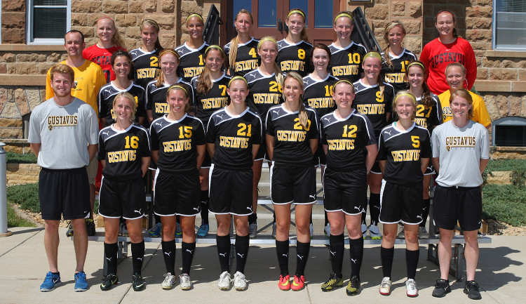 The 2014 women's soccer team (photo courtesy of Sport Pix Photography)