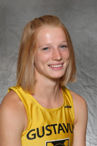 Caitlin Fermoyle led the Gusties for the second consecutive meet, coming in 19th place out of