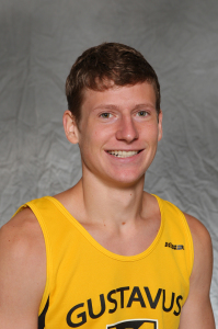 Thomas Knobbe was Gustavus's top performer with a 20th place finish at the St. Olaf Invite on Saturday.