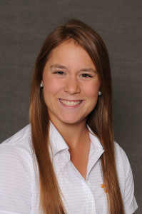 McKenzie Swenson helped lead the Gustie women's golf team to a seventh place finish at the O'Brien National Invitational.