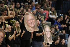 Gustavus students were out in full force in honor of Senior Night at Gus Young Court.