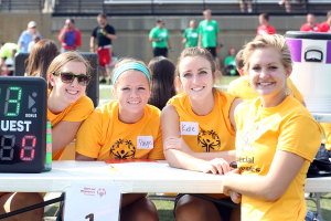 Gustavus student-athletes assisted in all aspects of the event including timing, scorekeeping, officiating, and, of course, cheering.