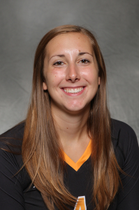 Alyssa Taylor led Gustavus's offense for the fifth straight match, posting a match-high 13 kills.