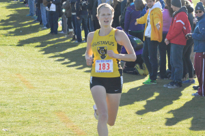After finishing the 6k course in 22:30.8, good for seventh place, Caitlin Fermoyle earned All-Conference honor for the third season in a row.