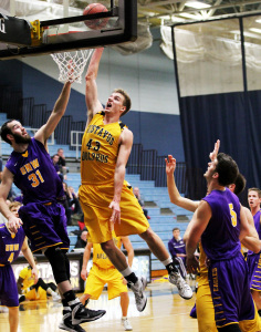 Brody Ziegler was one of four Gusties to reach double digit scoring on Saturday.
