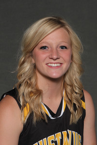 Mikayla Miller's three-pointer at the end of regulation set up an eight point overtime victory for the Gustavus women's basketball team.