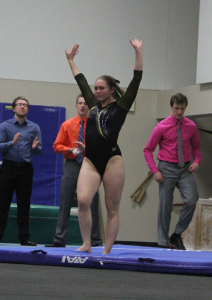 Rachel Thiner performed her best floor routine of the year to win the event with a score of 9.325.