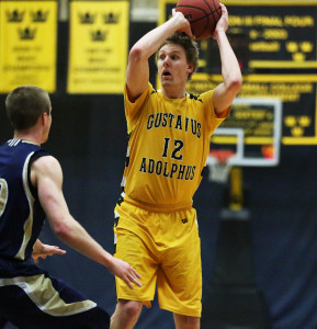 Martin Feddersen tallied six points and six rebounds in his final regular season game on Gus Young Court.