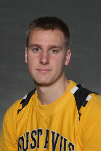 Martin Feddersen led Gustavus with a team high 12 points and six rebounds.