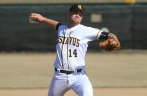 Michael Strelow pitched six strong innings for the Gusties in game two.
