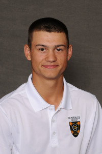 Alec Aunan leads Gustavus after day one of the Saint John's Invite with a one-over 73.