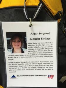 Army Sergeant Jennifer Switzer