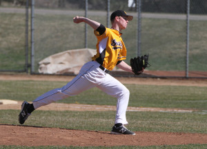 Casey Lewandoski earned his first career victory on the mound on Monday afternoon.