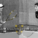 Tennis players Michaela Schulz and Mohanad ALhouni have been named the Gustavus Athletes of the Month for the month of March.