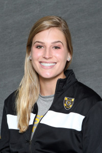 Michaela Schulz earned two convincing victories to help Gustavus to a 6-3 victory over St. Thomas on Saturday.