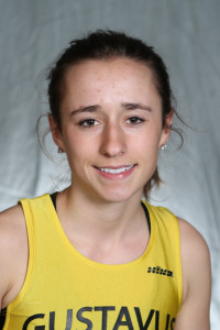 Marit Sonnesyn finished second in the 10,000-meter at the Hamline Twilight Meet on Wednesday night.